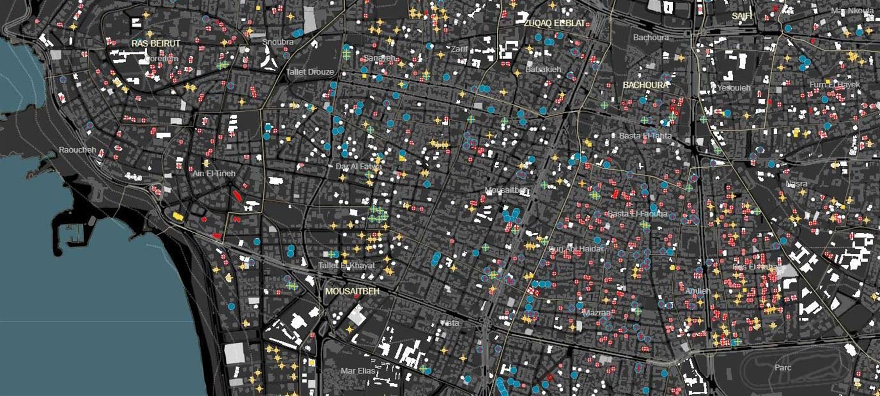قاعدة بيانات البيئة العمرانية في بيروت