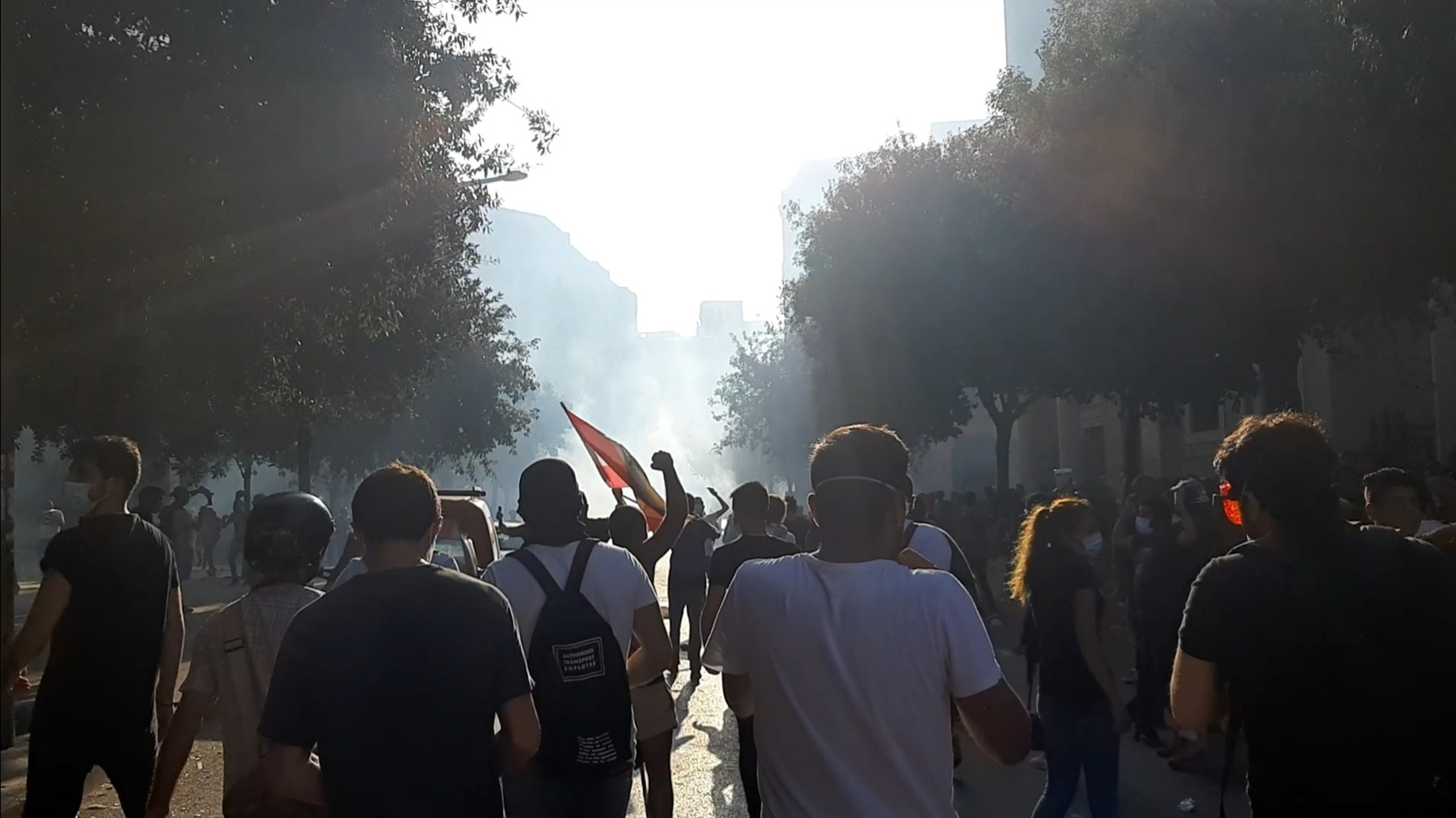 Protest on Saturday, August 8, when tear gas and live ammunition were fired at protesters, and more than 700 were injured (Photo: Dounia Salamé)