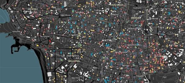 قاعدة بيانات البئية العمرانية في بيروت