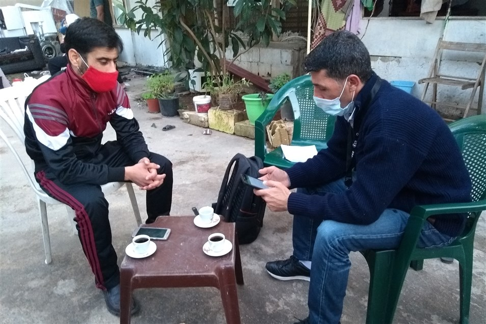 Trained Citizen Scientists conduct interviews in Karantina to better inform the recovery process (Photo: Ali Ghaddar, December 2020)